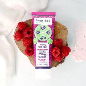 Human + Kind elderflower and raspberry hand scrub